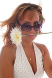 красивейшие детеныши женщины цветка Стоковые Изображения RF