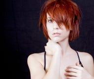 красивейшие детеныши женщины redhead Стоковые Фотографии RF