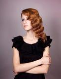 красивейшие детеныши женщины redhead Стоковое Изображение RF