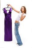 красивейшие джинсыы девушки Стоковые Изображения