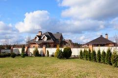 красивейшие дома сада Стоковое Изображение