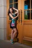 красивейшие детеныши девушки платья Стоковое фото RF