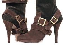 Красивейшие женские ботинки Стоковые Изображения RF