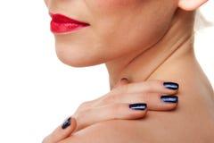 красивейшие женские губы красные Стоковое Фото