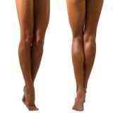 красивейшие женские ноги длиной Стоковая Фотография