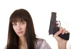 красивейшие женщины пушки молодые Стоковые Изображения