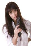 красивейшие женщины пушки молодые Стоковая Фотография