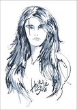 красивейшие женщины стороны Иллюстрация девушек моды стоковое изображение