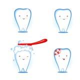 красивейшие зубы Иллюстрация штока