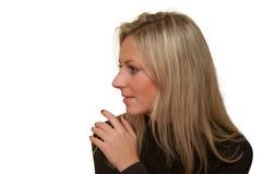 красивейшие изолированные нежые детеныши белой женщины Стоковое Фото
