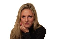 красивейшие изолированные нежые детеныши белой женщины Стоковые Фотографии RF