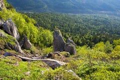 красивейшие кавказские горы ландшафта Стоковое Изображение RF