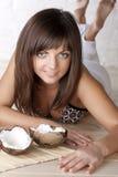 красивейшие кокосы брюнет Стоковые Изображения