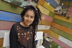 Красивейшие милые волосы Азия Dreadlock женщин типа Стоковое Изображение