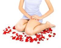 Красивейшие ноги женщины Стоковые Изображения