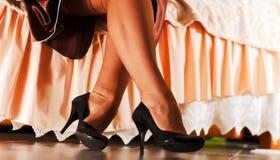 Красивейшие ноги `s женщин Стоковые Изображения
