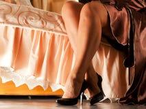 Красивейшие ноги `s женщин Стоковое Фото