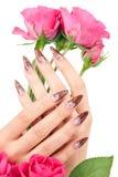 красивейшие ногти изображения крупного плана Стоковые Изображения RF