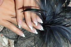 красивейшие ногти рук Стоковая Фотография RF