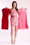 красивейшие одежды фасонируют детенышей женщины стоковые изображения rf