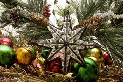 красивейшие орнаменты рождества Стоковые Изображения RF
