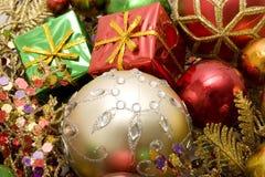 красивейшие орнаменты рождества Стоковое фото RF
