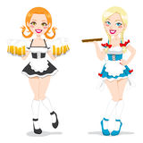 Красивейшие официантки Oktoberfest Стоковые Изображения RF
