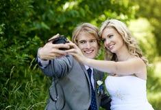 Красивейшие пары венчания стоковое фото rf