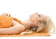 красивейшие полотенца померанца повелительницы стоковое изображение rf