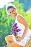 красивейшие портреты девушки wedding детеныши Стоковые Изображения RF