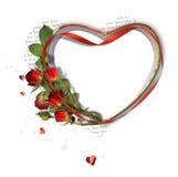 красивейшие розы рамки иллюстрация штока
