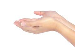 красивейшие руки раскрывают женщину 2 Стоковые Фотографии RF