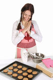 красивейшие торты завершили домохозяйку Стоковые Фото