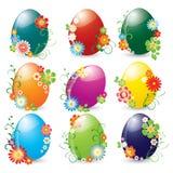 красивейшие установленные пасхальные яйца светить бесплатная иллюстрация