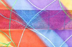 красивейшие цветастые нашивки ткани Стоковые Фото
