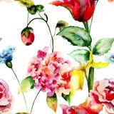 красивейшие цветки одичалые Стоковое Изображение RF