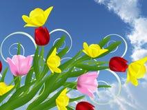 красивейшие цветки иллюстрация вектора