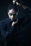 красивейшие черные детеныши женщины портрета Стоковая Фотография
