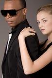 красивейшие черные пары укомплектовывают личным составом детенышей портрета Стоковое Фото