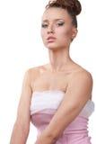 красивейшие чистые детеныши женщины кожи стороны Стоковые Фотографии RF
