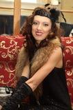 красивейшие шерсти вечера gown сь женщина Стоковые Изображения RF