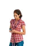 красивейшие этнические multi texting детеныши женщины Стоковые Фото