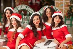 красивейшие 5 santas Стоковое Фото