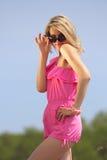 красивейшие blondie представления outdoors Стоковое Фото