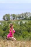 красивейшие blondie представления outdoors Стоковые Изображения RF