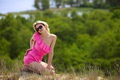 красивейшие blondie представления outdoors Стоковые Изображения