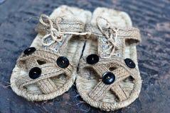 Красивейшие handmade сандалии Стоковое фото RF