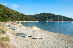 Красивейший адриатический пляж песка острова Стоковое фото RF