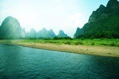 Красивейший ландшафт Yangshuo в Guilin, Китае Стоковое Изображение RF