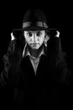 красивейший белокурый костюм шлема девушки Стоковые Изображения RF